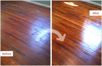 Sir Grout Bucks Wood Refinishing Sandless
